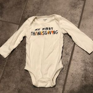 """""""My First Thanksgiving"""" outfit"""